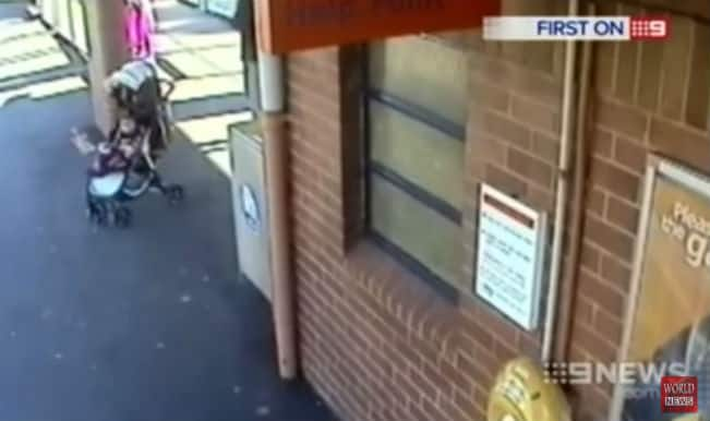 CCTV footage captures 62-year-old Sikh man saving 18-month-old granddaughter from speeding train!