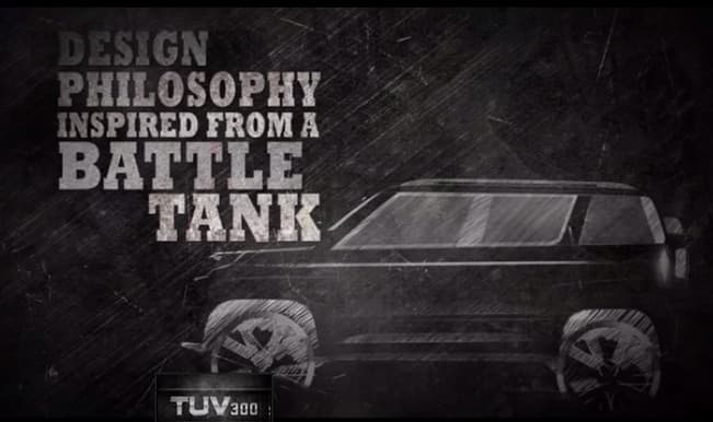 Mahindra TUV300: Logo and Vehicle Sketch Revealed! (Video)
