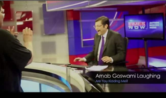 Watch Arnab Goswami laugh and joke in this Behind the Scenes All India Bakchod (AIB) video