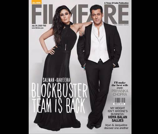 Salman Khan and Kareena Kapoor look breathtakingly hot on the Filmfare cover!