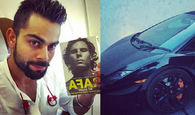 Virat Kohli reads Rafael Nadal's autobiography; drives Black Lamborghini Gallardo Spyder!