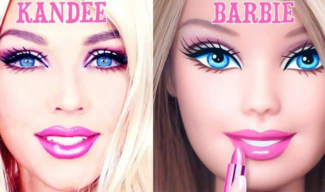 OMG! Woman transforms herself into Barbie doll in one minute! (Watch video)