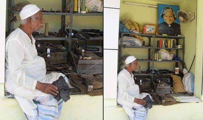 Late Dr APJ Abdul Kalam's 99-year-old brother runs an umbrella repair shop! Picture goes viral