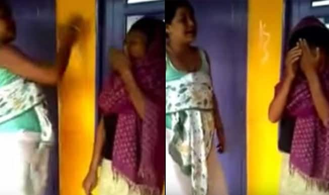 A Nepali woman is brutally beaten by an Indian: Watch this gruesome video of Manipuri lady!