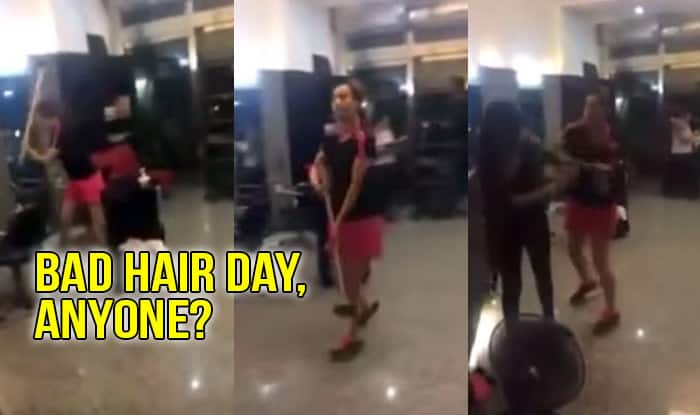 This angry woman destroyed beauty salon with sledgehammer after bad hair cut! Watch Video