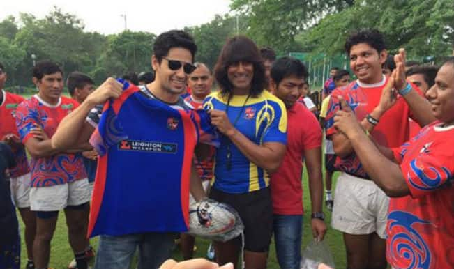 Sidharth Malhotra meets his old rugby club in Delhi