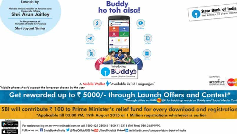State Bank of India launches mobile wallet app Buddy