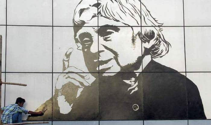 Huge portrait of Dr APJ Abdul Kalam painted in Mumbai railway station: Picture viral on Facebook