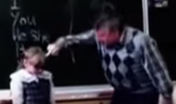Little girl teaches abusive teacher a lesson by kicking him in the b***s