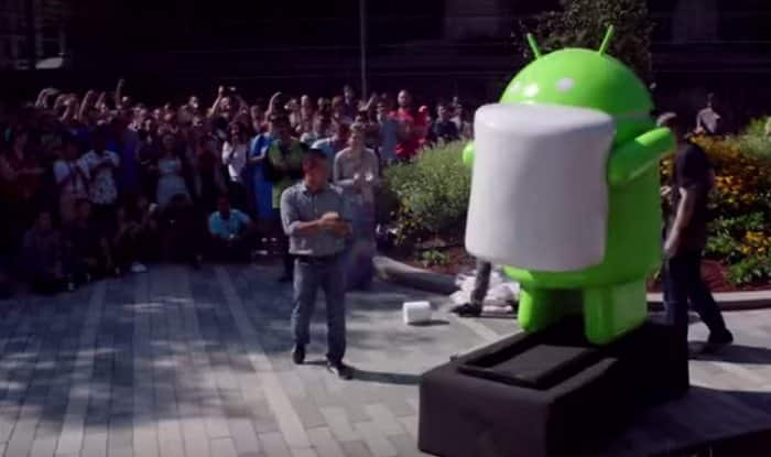 Android Marshmallow statue revealed by Google among curious fans (Watch video)