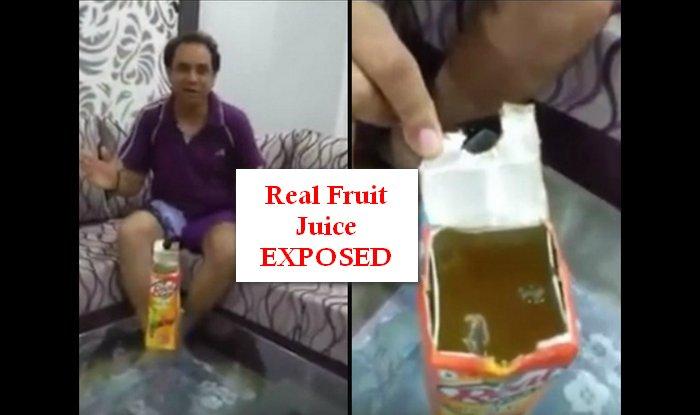 Shocking! Lizard found in Real Fruit Juice brand of Dabur!