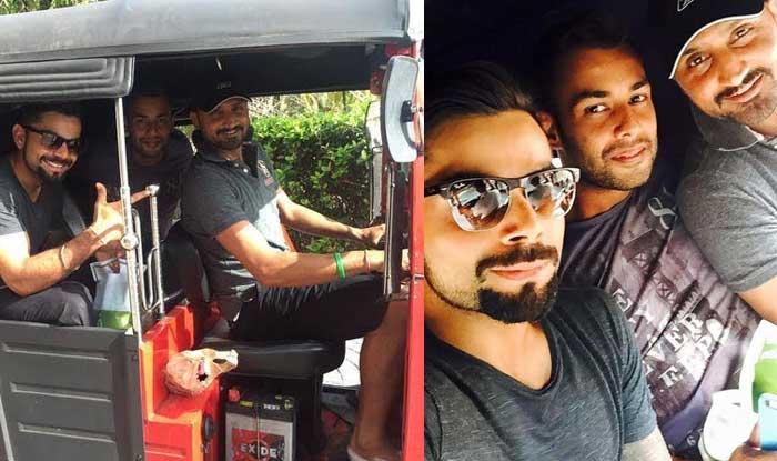 Virat Kohli, Harbhajan Singh & Stuart Binny share 'tuk-tuk' selfies post win over Sri Lanka!