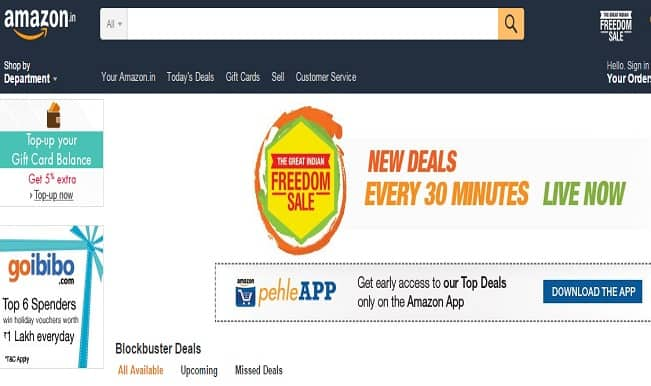 Amazon.in The Great Indian Freedom Sale begins; Three-day sale loaded with discounts and special offers
