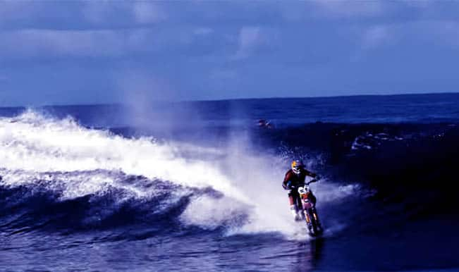 Motorbike surfing is a thing now: Watch amazing video of Robbie Maddison scale Pacific waves