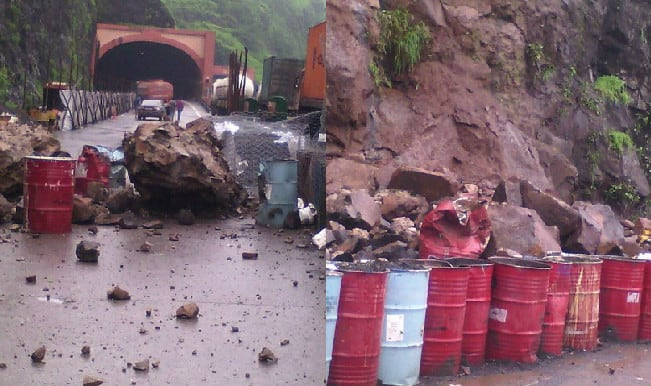Landslide on Mumbai-Pune Expressway; none injured