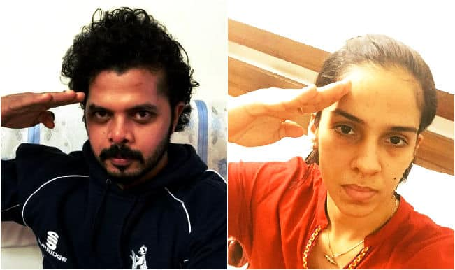 Virender Sehwag, Saina Nehwal and Sreesanth hail Indian soldiers with #SaluteSelfie