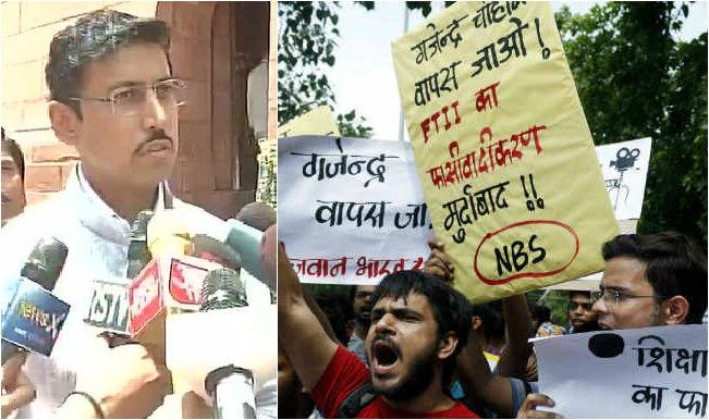 FTII students stage protest at Jantar Mantar; Govt blames Congress for strike