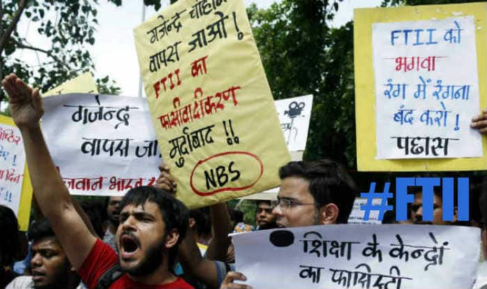#FTII: Twitterati react furiously over the arrest of striking students