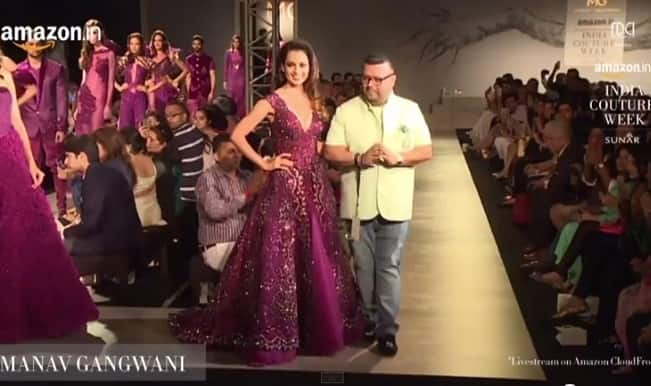 Amazon India Couture Week 2015: Kangana Ranaut the Queen walks for Manav Gangwani (Video)