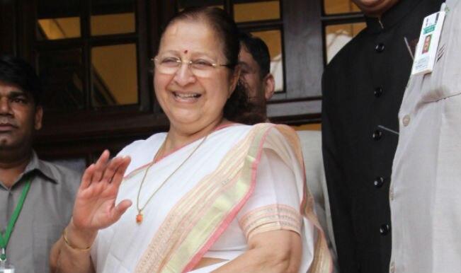लोकसभा अध्यक्ष सुमित्रा महाजन ने कांग्रेस के 25 सांसदों को निलंबित किया