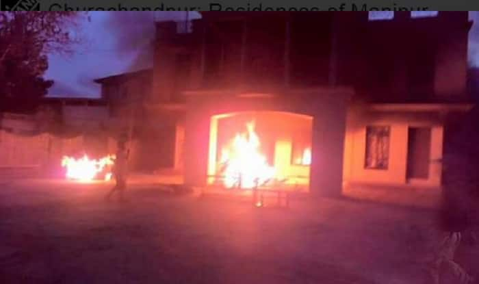 Manipur: Houses of 3 MLAs set ablaze by anti Inner Line Permit System (ILPS) protesters