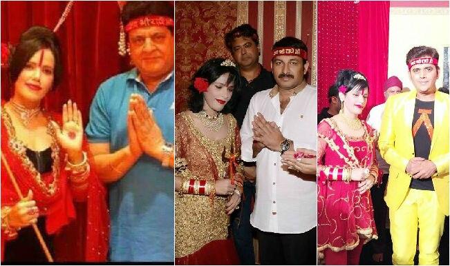 Radhe Maa with Gajendra Chauhan, Ravi Kishan and Manoj Tiwari: See Pictures of fraud Godwoman!