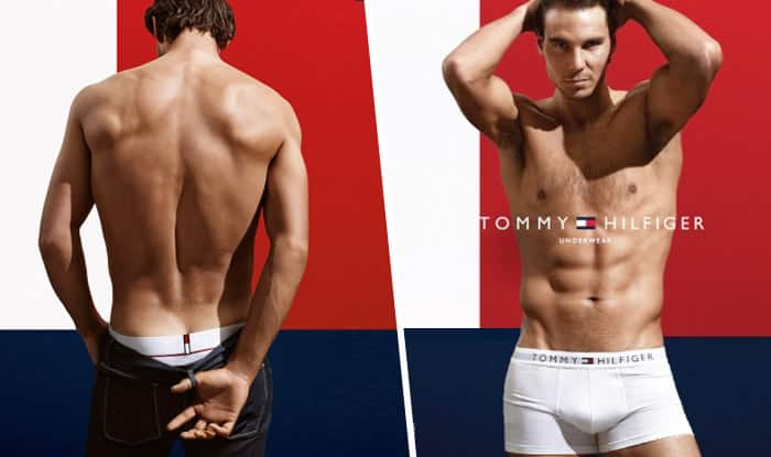 Oomph! Rafael Nadal strips to his underwear for Tommy Hilfiger commercial video