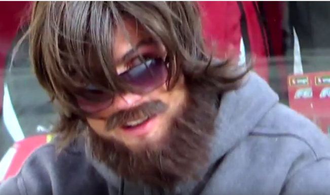 Cristiano Ronaldo disguises in a beard and surprises fan on the street (Watch Video)
