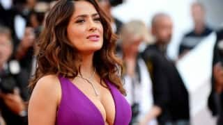 ewww! Salma Hayek drinks bone broth from the remains of cows for youthful skin