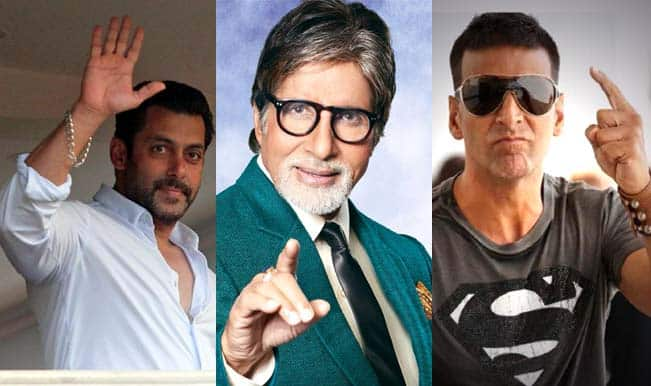 Salman Khan, Amitabh Bachchan and Akshay Kumar highest paid actors of 2015