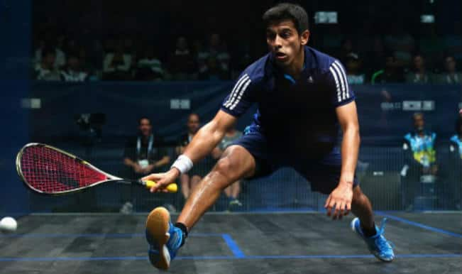 Saurav Ghosal goes down in Colombian title clash