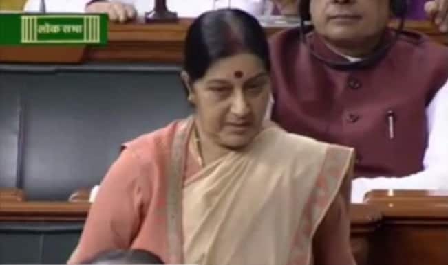 Sushma Swaraj denies Opposition charges on Lalitgate in Lok Sabha, watch her full statement