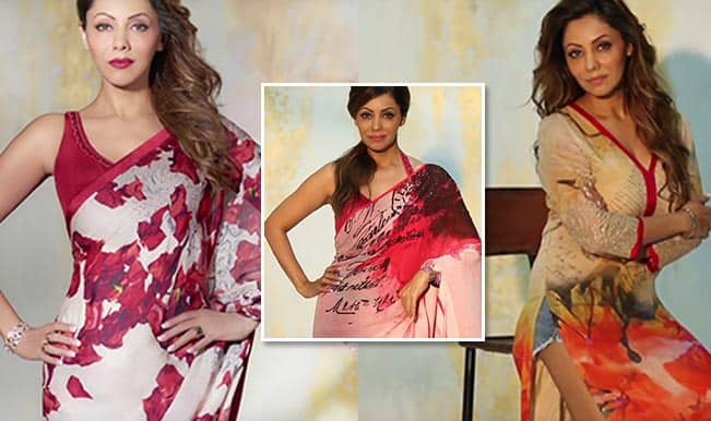Shah Rukh Khan's wifey Gauri Khan turns absolute stunner for Satya Paul! Watch video