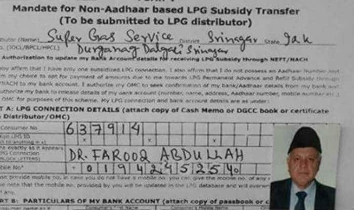Shocker! Even Farooq Abdullah, the former Jammu and Kashmir Chief Minister needs LPG Subsidy