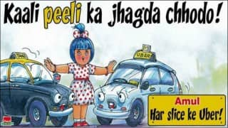 This poster proves Amul is just 'Uber' cool!