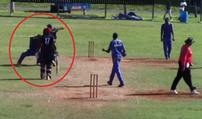 Police called on cricket pitch after Bermuda players become violent & hit with bat! Watch video