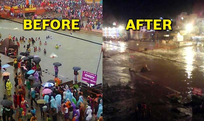 Godavari river in RamKund flooded after last Nashik Kumbh Shahi Snan; 10 stuck in Sangameshwar Temple