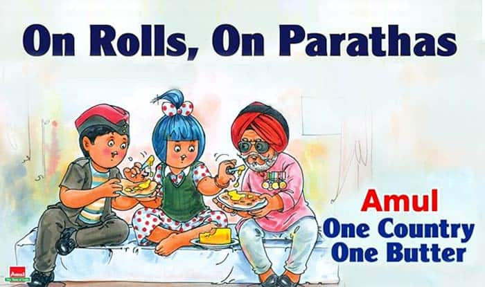 Amul ad celebrates implementation of One Rank One Pension with ex-servicemen!