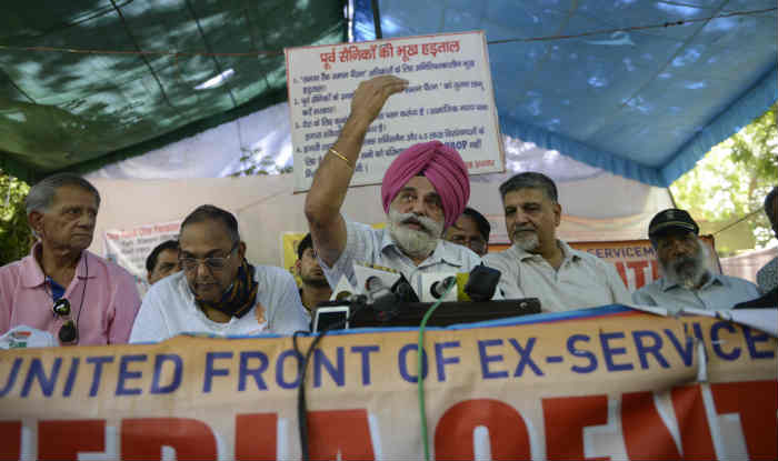 OROP protest continues for 105th day