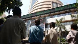 Sensex retreats from record, down 104 pts on F&O expiry day
