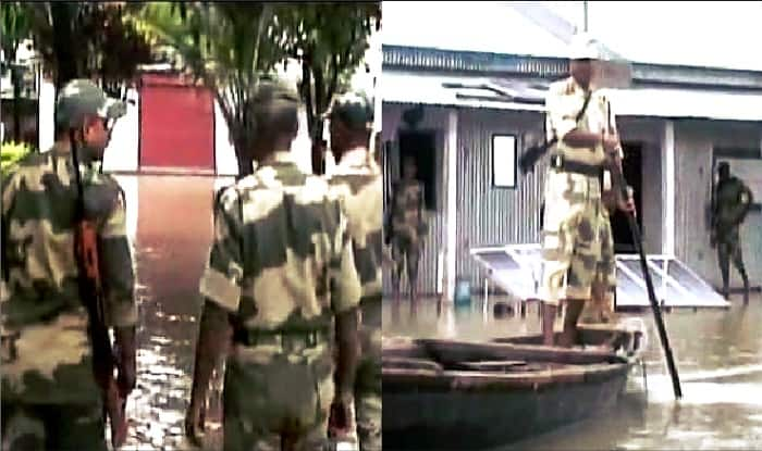 Army outposts along India-Bangladesh border in Assam flooded