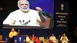 Narendra Modi interacts with students on the eve of Teacher's Day 2015 (Watch full video)