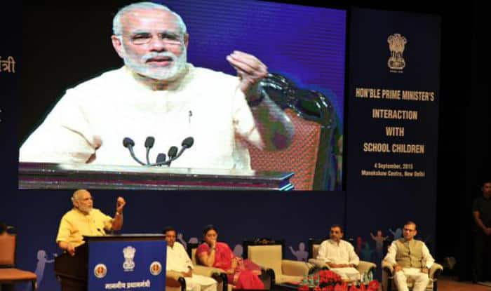 Narendra Modi asks teachers to keep abreast with technology
