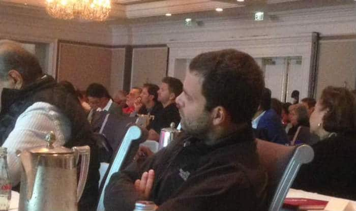 Rahul Gandhi tweets picture of his at conference in the US