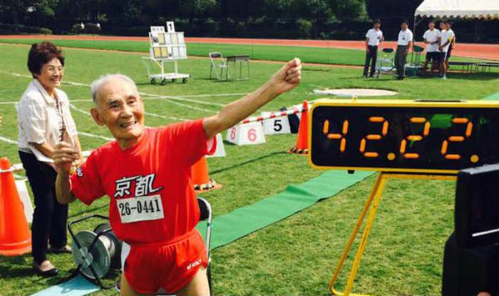 Japan's Golden Bolt Hidekichi Miyazaki stuns medical science to set world record