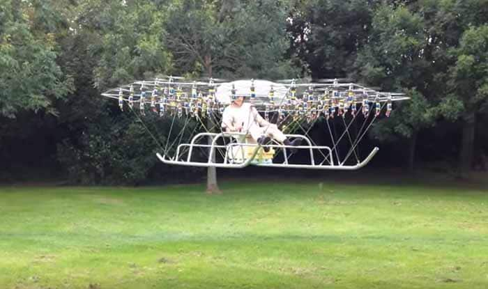 Flying Man: Homemade super drone has 54-rotors