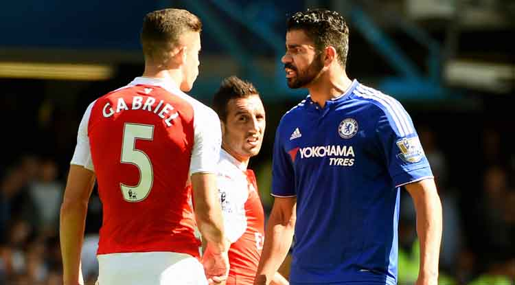 Gabriel Red Card: Diego Costa bullies his way to stay on the pitch as Chelsea win 2-0 against Arsenal