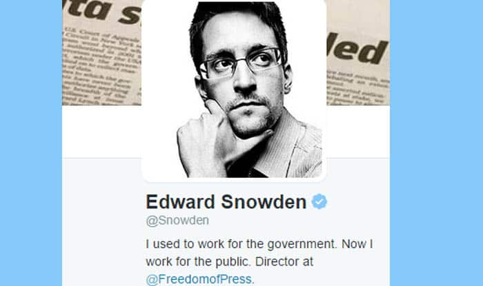 Edward Snowden joins Twitter, only follows US National Security Agency (NSA); gains 75,000 followers