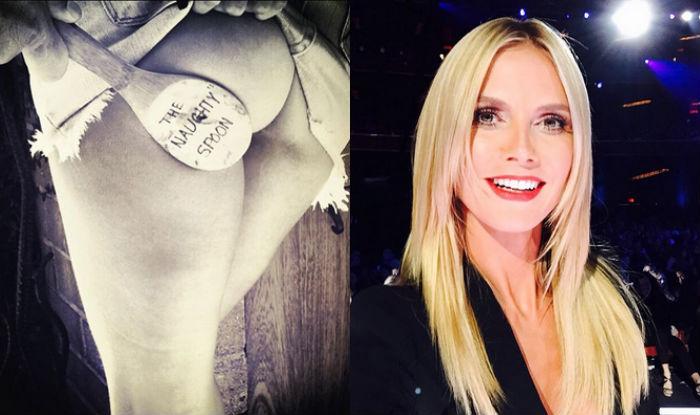 Heidi Klum flashes black-and-white photo of her derriere on Instagram