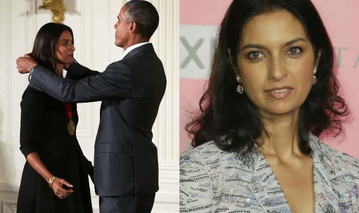 Barack Obama presents National Humanities Medal to Jhumpa Lahiri